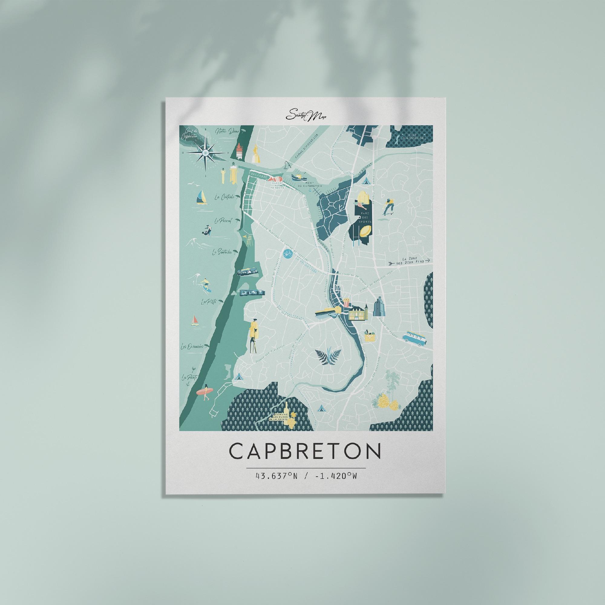 Carte de Capbreton